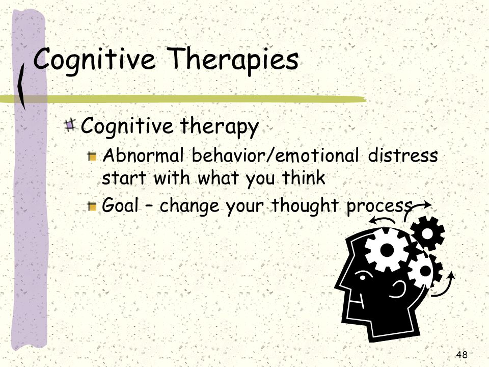 Cognitive Therapies Cognitive therapy