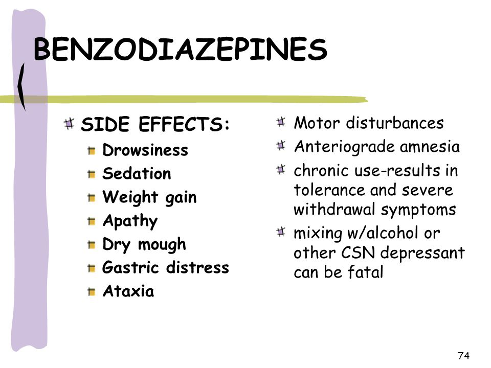 any side effects from diazepam