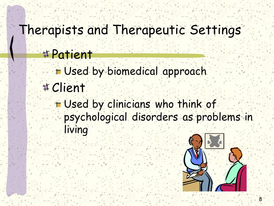 Therapists and Therapeutic Settings