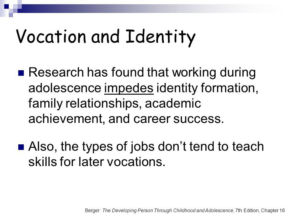 Vocation and Identity