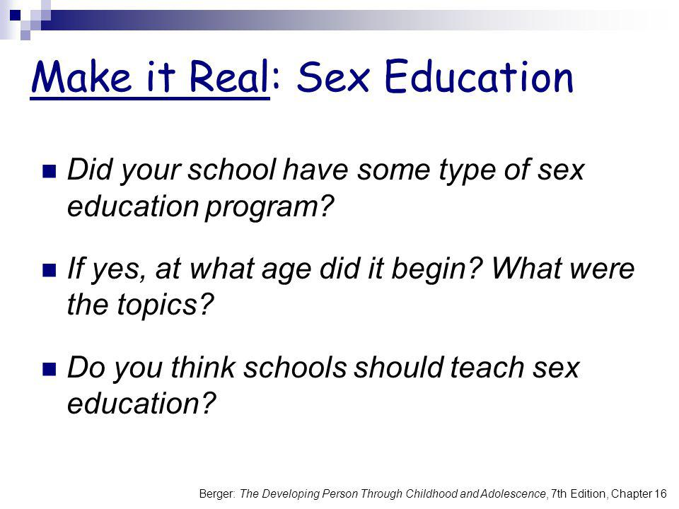 Make it Real: Sex Education