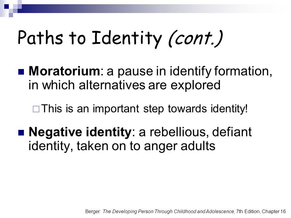 Paths to Identity (cont.)