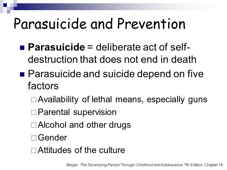 Parasuicide and Prevention