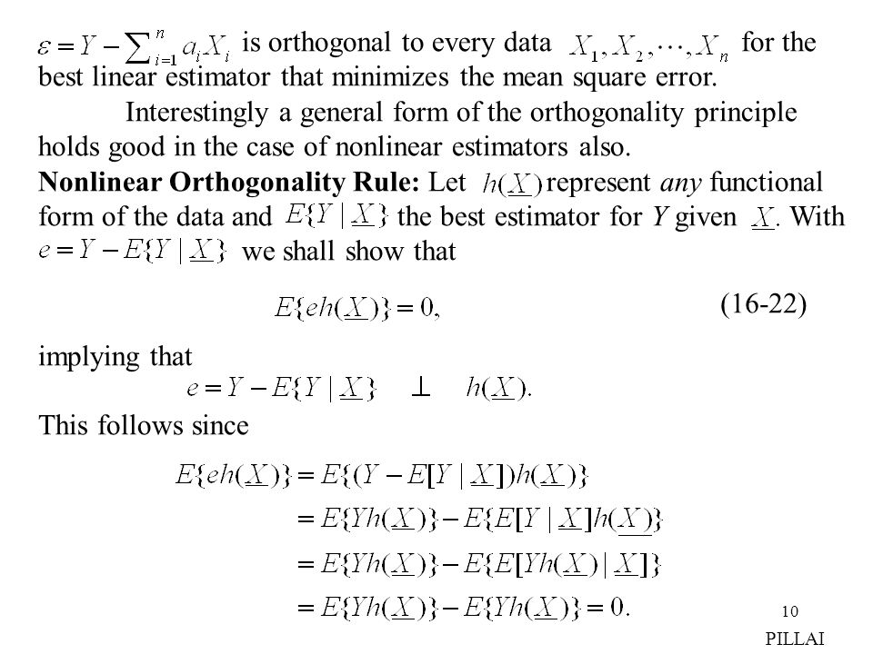 is orthogonal to every data for the