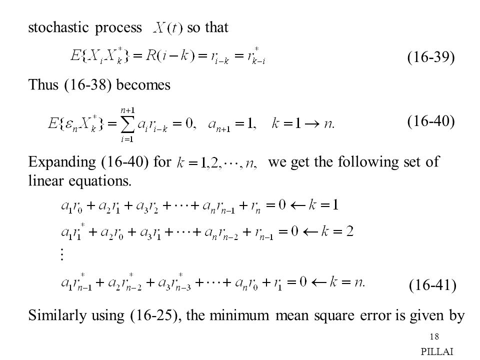stochastic process so that