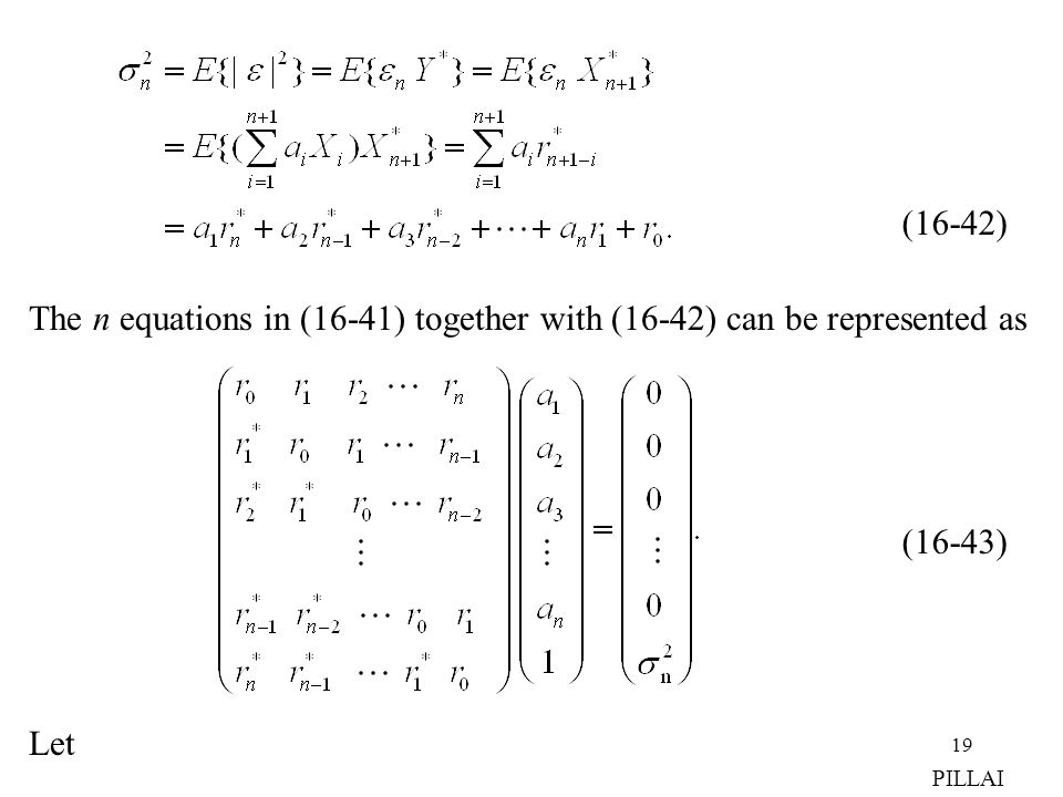 The n equations in (16-41) together with (16-42) can be represented as