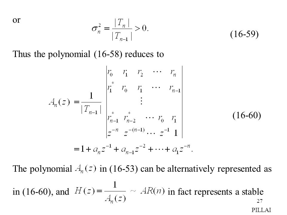 Thus the polynomial (16-58) reduces to