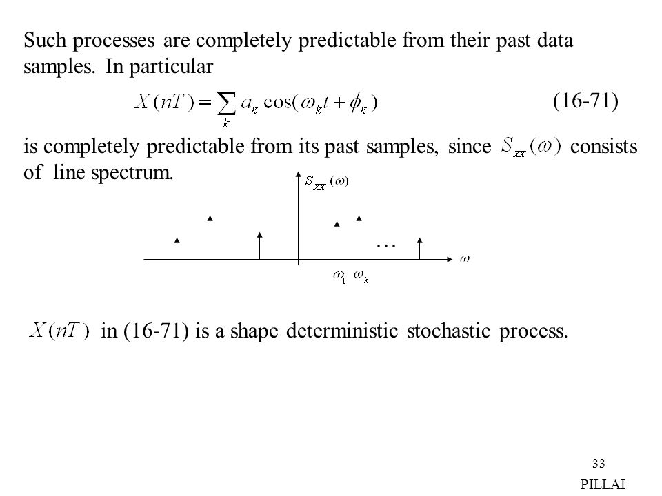 Such processes are completely predictable from their past data