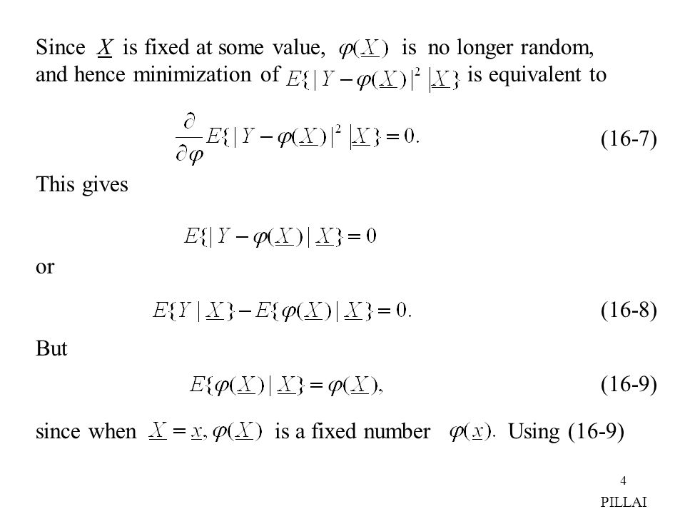 Since X is fixed at some value, is no longer random,