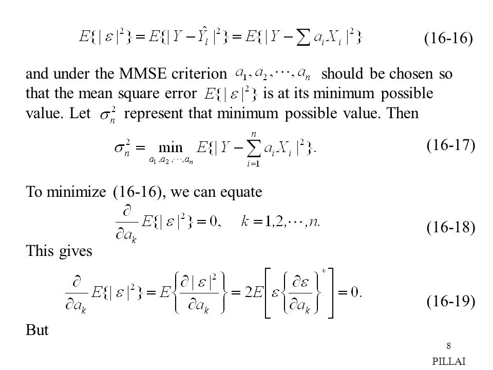 and under the MMSE criterion should be chosen so