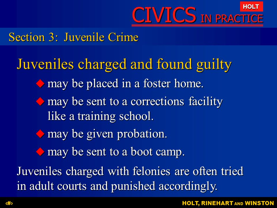 Juveniles charged and found guilty