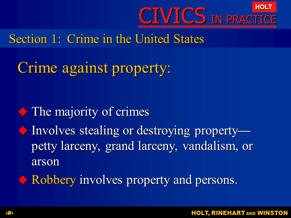 Crime against property:
