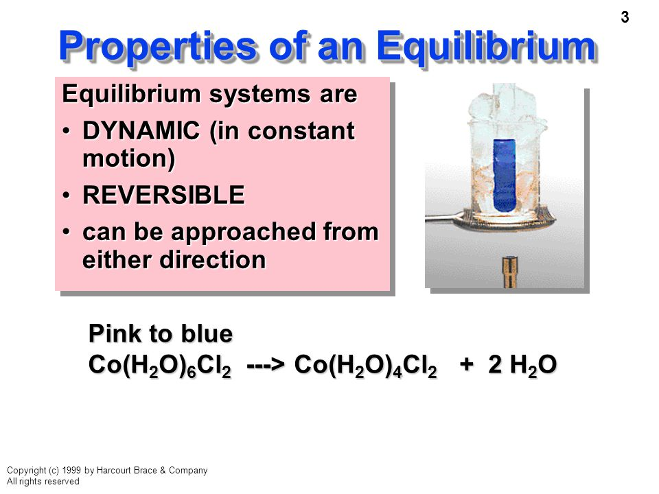 Properties of an Equilibrium