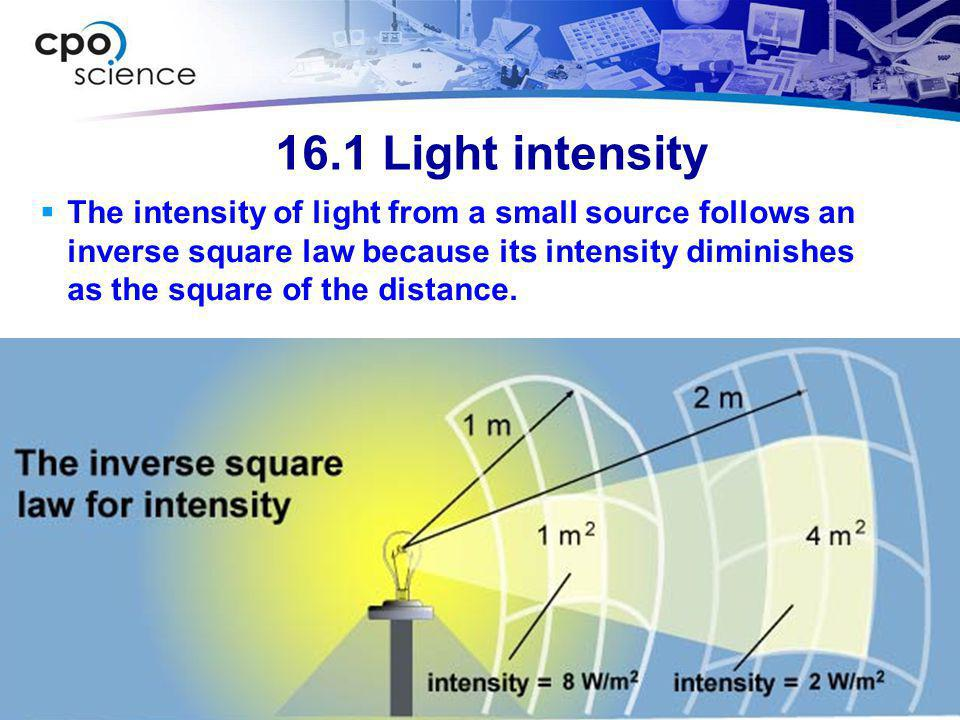 16.1 Light intensity