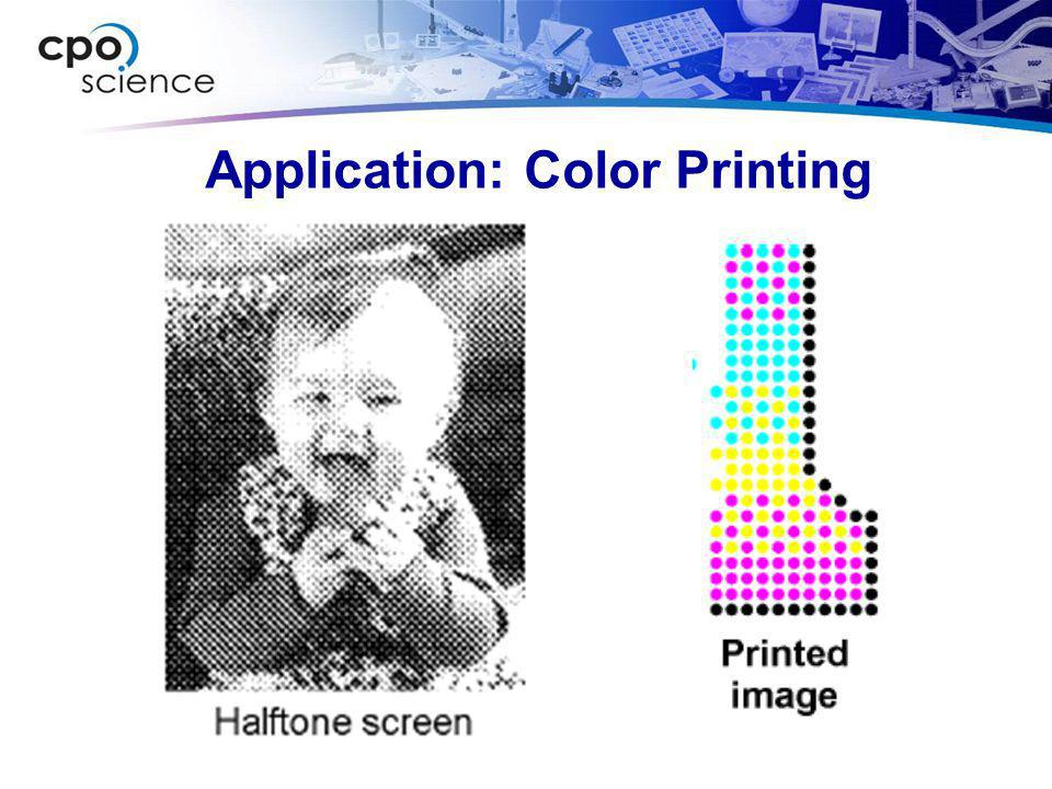 Application: Color Printing