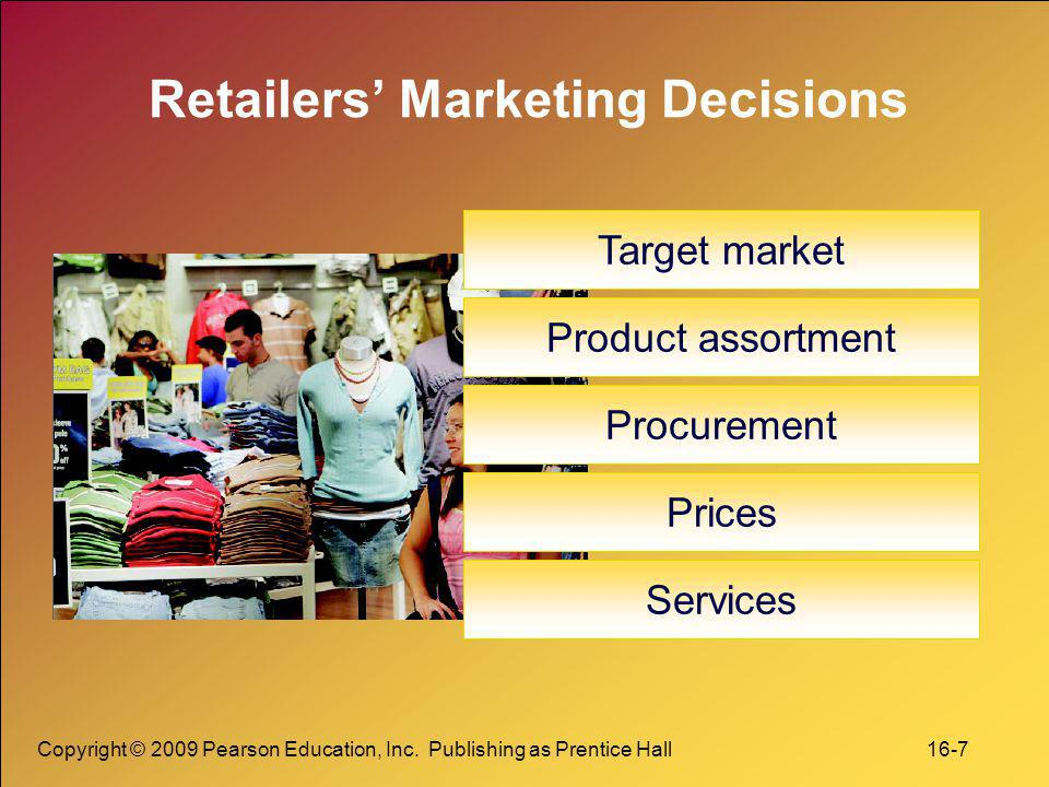 Retailers' Marketing Decisions