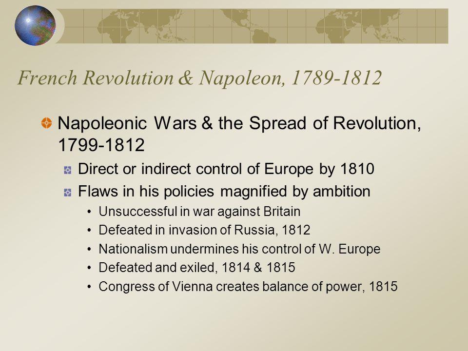 French Revolution & Napoleon, 1789-1812