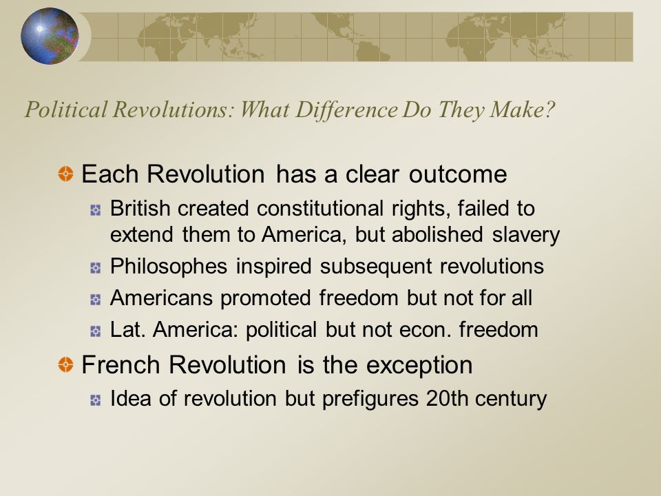 Political Revolutions: What Difference Do They Make