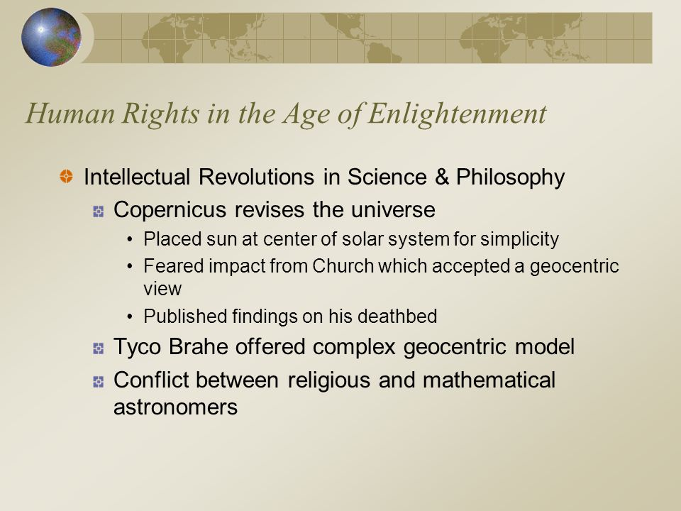 Human Rights in the Age of Enlightenment