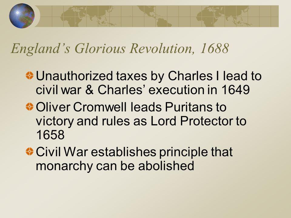England's Glorious Revolution, 1688