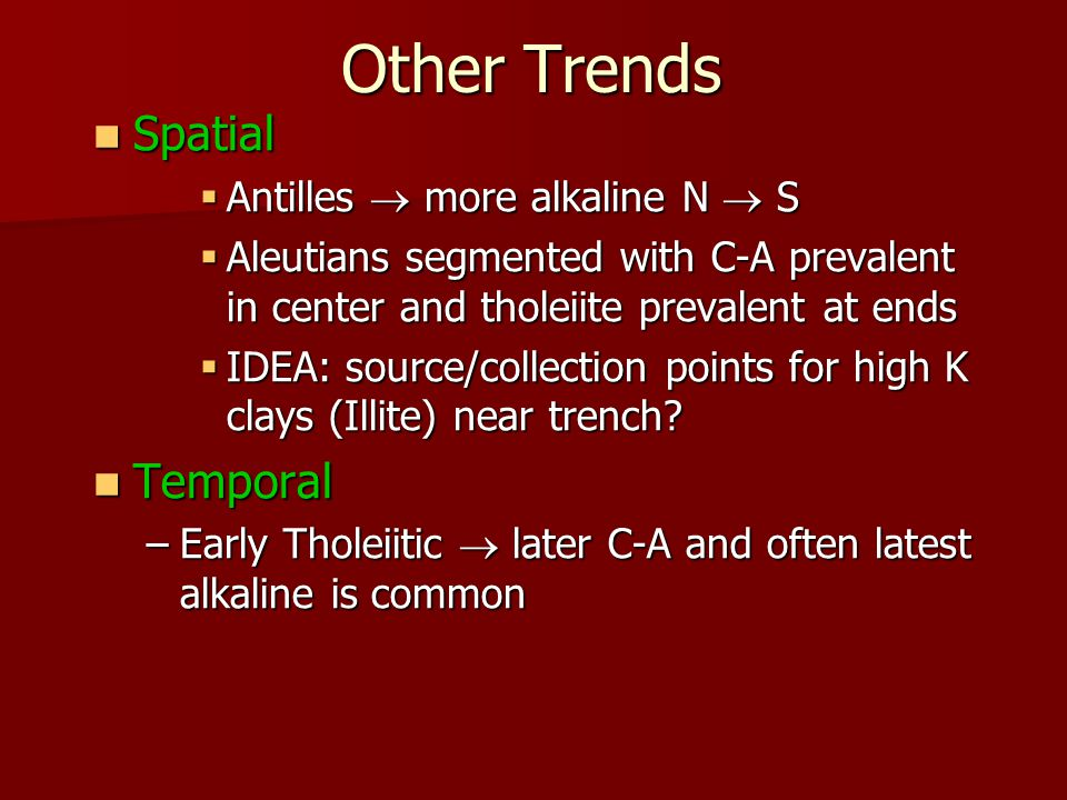 Other Trends Spatial Temporal Antilles  more alkaline N  S