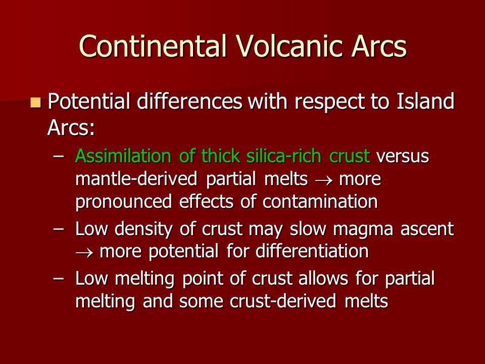 Continental Volcanic Arcs