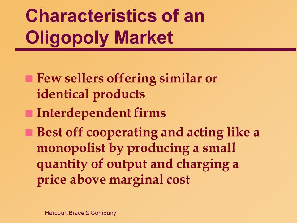 Characteristics of an Oligopoly Market