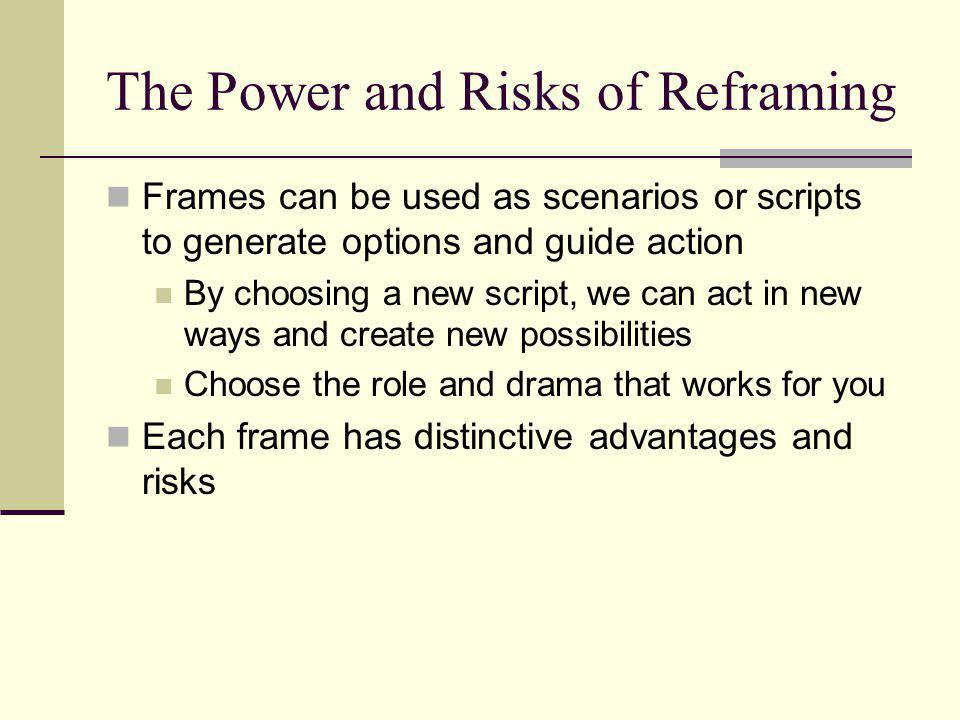 The Power and Risks of Reframing