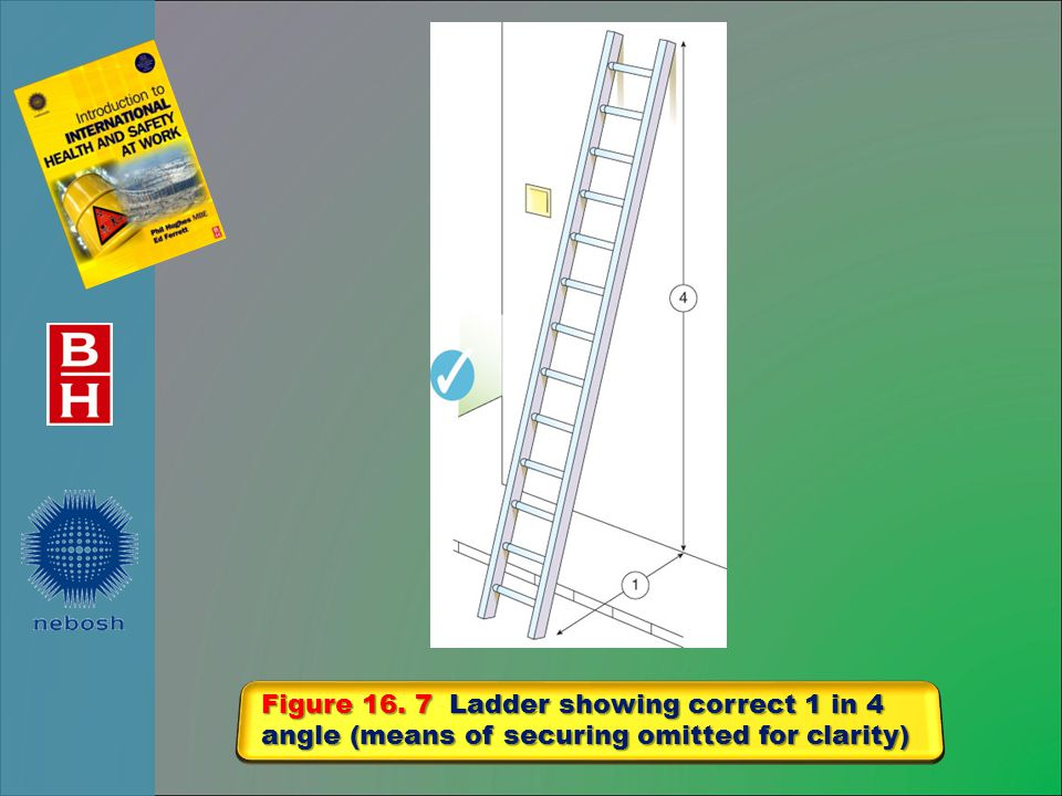 Figure 16. 7 Ladder showing correct 1 in 4