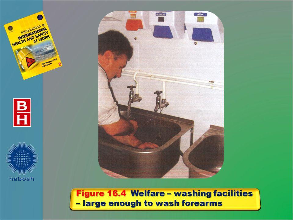 Figure 16.4 Welfare – washing facilities