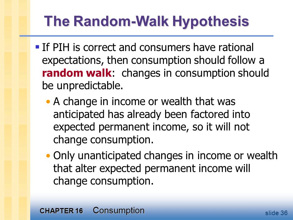 Implication of the R-W Hypothesis