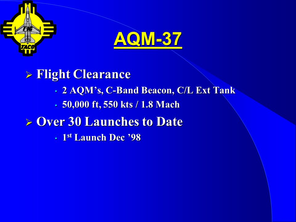AQM-37 Flight Clearance Over 30 Launches to Date