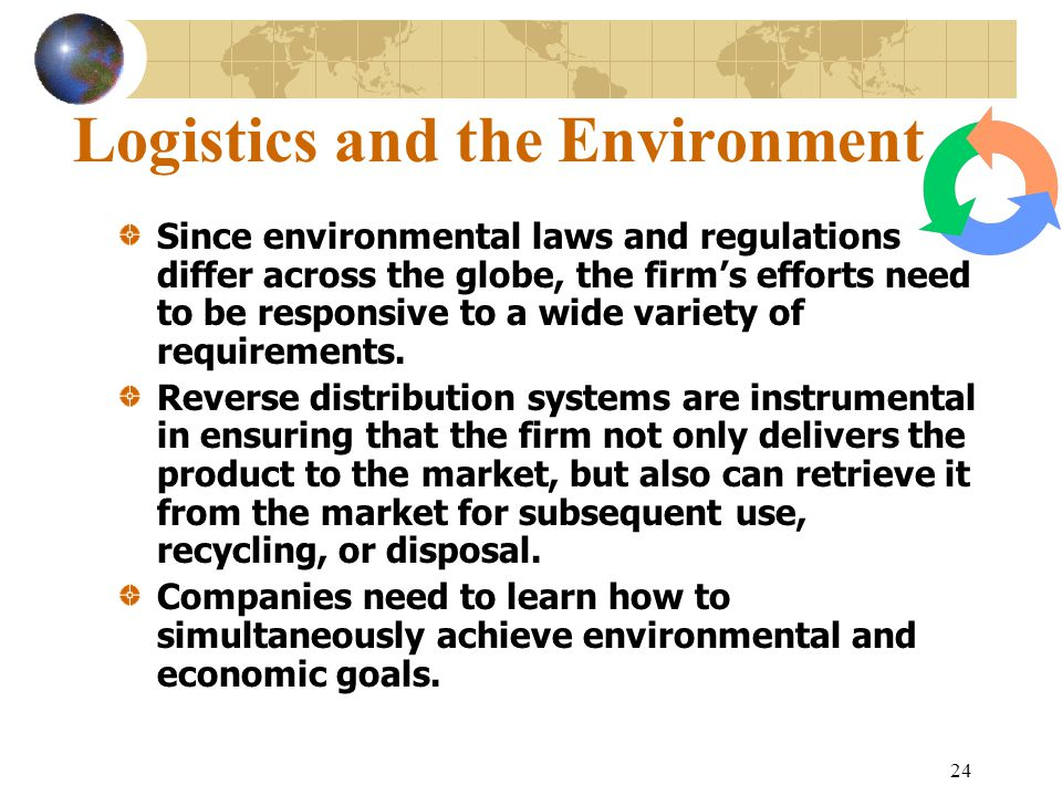 Logistics and the Environment