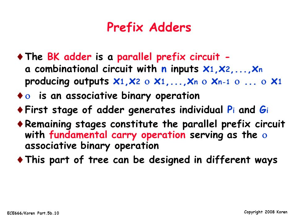 Prefix Adders