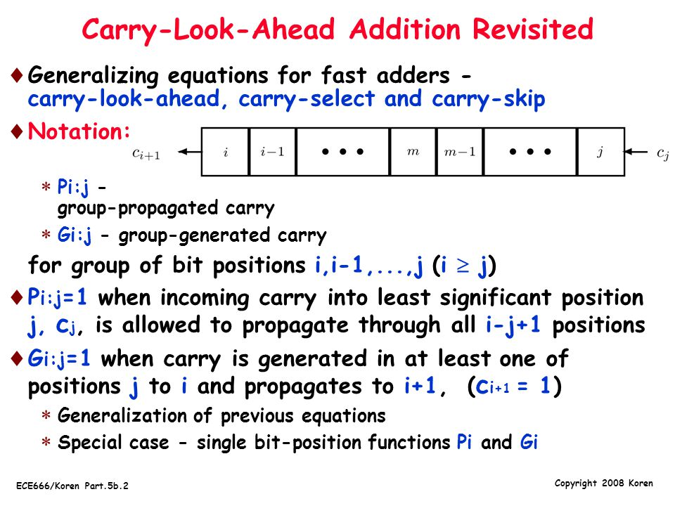 Carry-Look-Ahead Addition Revisited