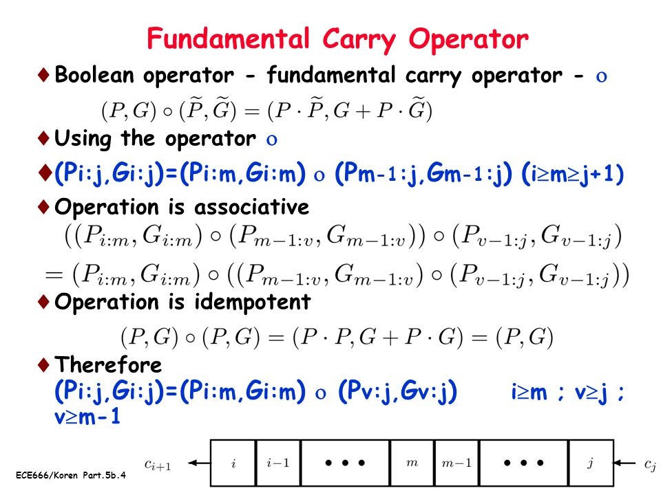 Fundamental Carry Operator
