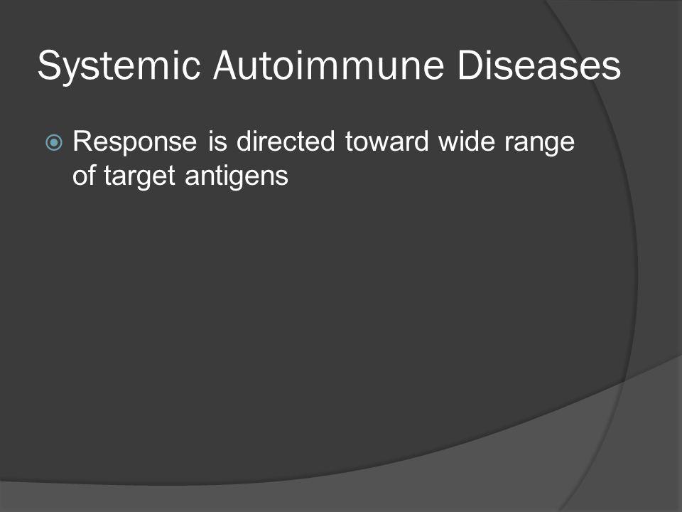 Systemic Autoimmune Diseases
