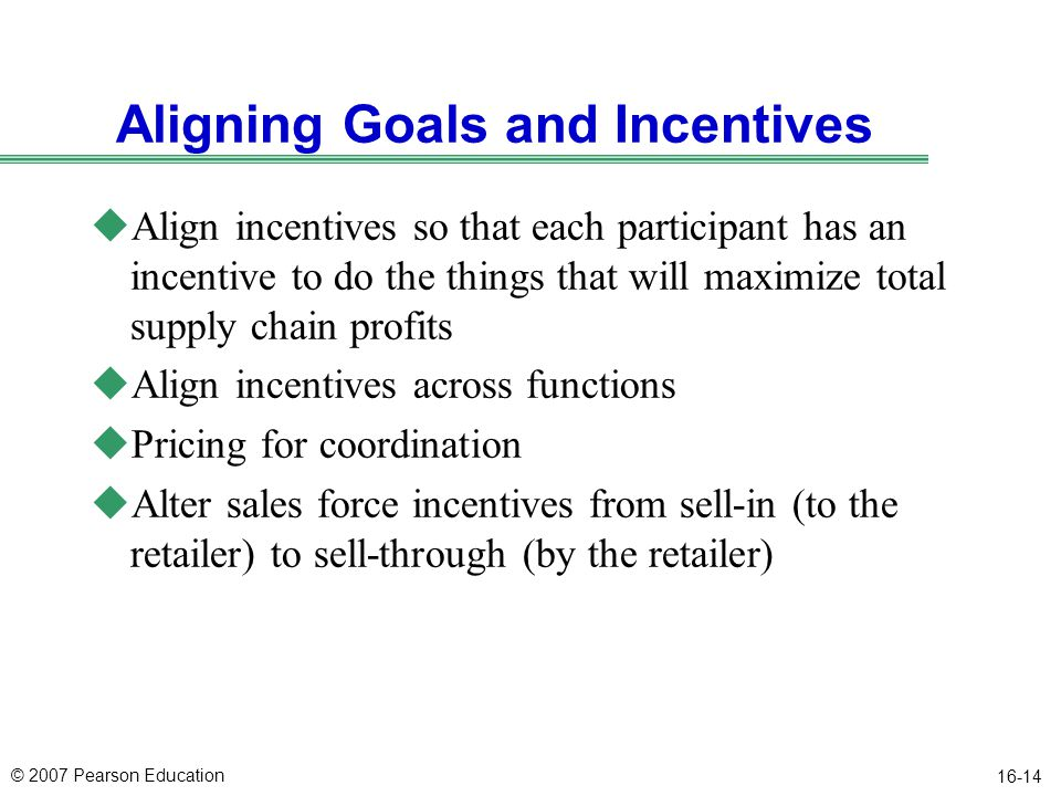 Aligning Goals and Incentives