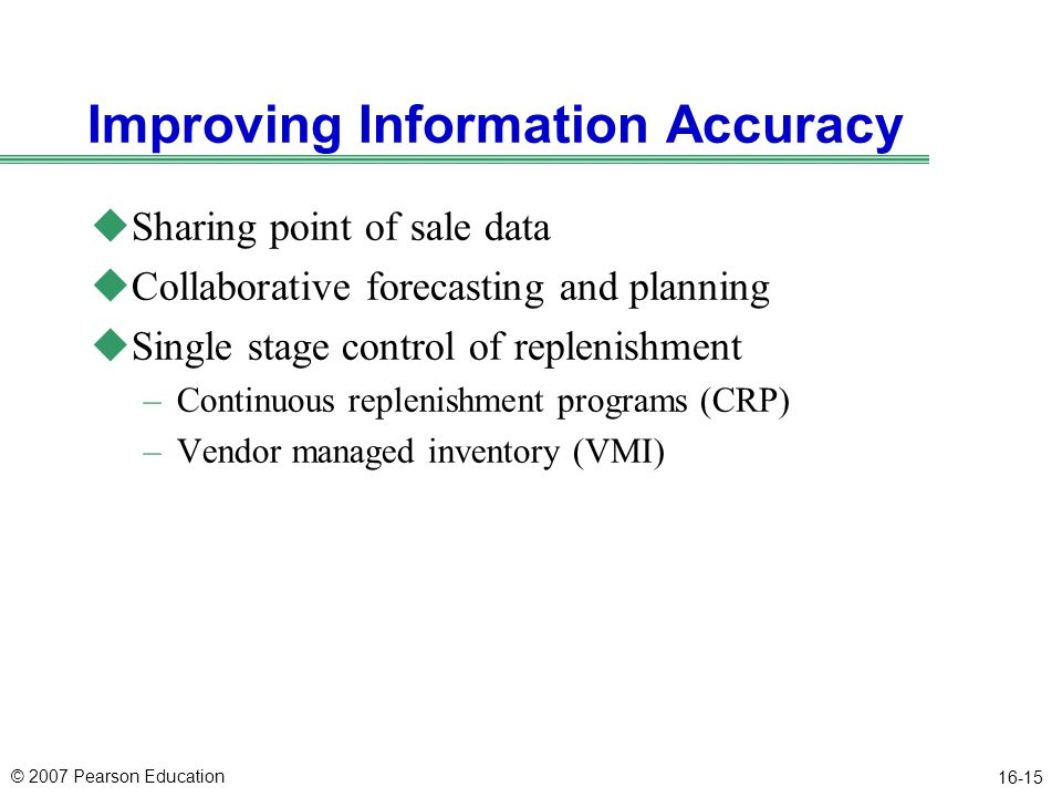 Improving Information Accuracy