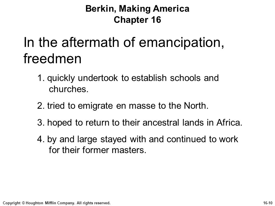 Berkin, Making America Chapter 16