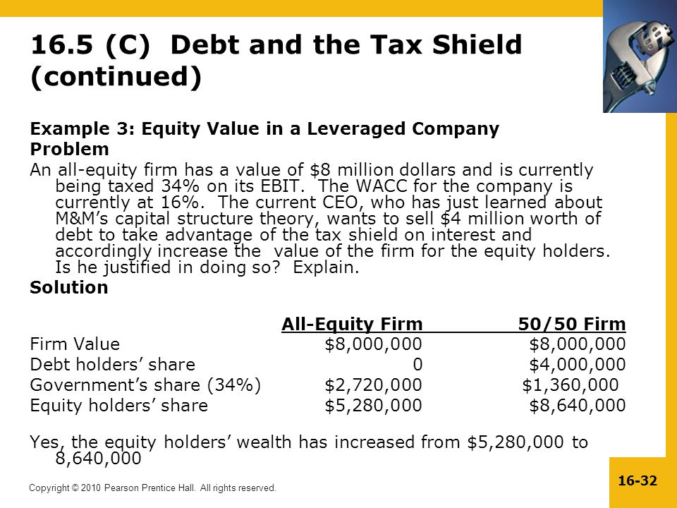 16.5 (C) Debt and the Tax Shield (continued)