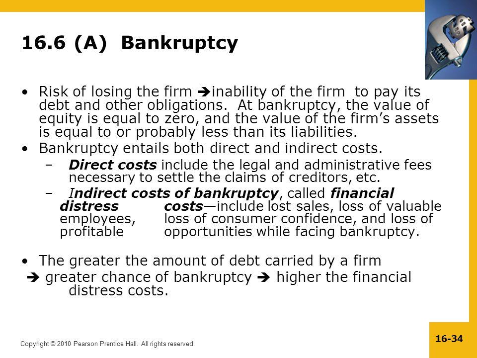 16.6 (A) Bankruptcy
