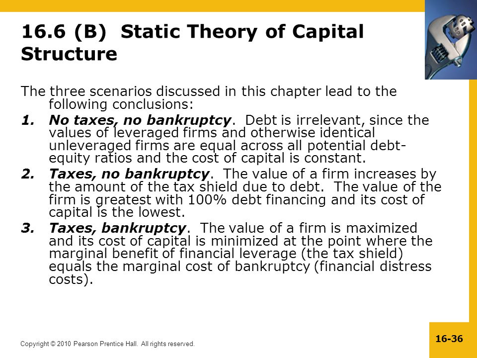 16.6 (B) Static Theory of Capital Structure