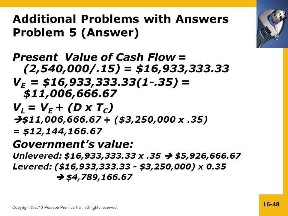 Additional Problems with Answers Problem 5 (Answer)