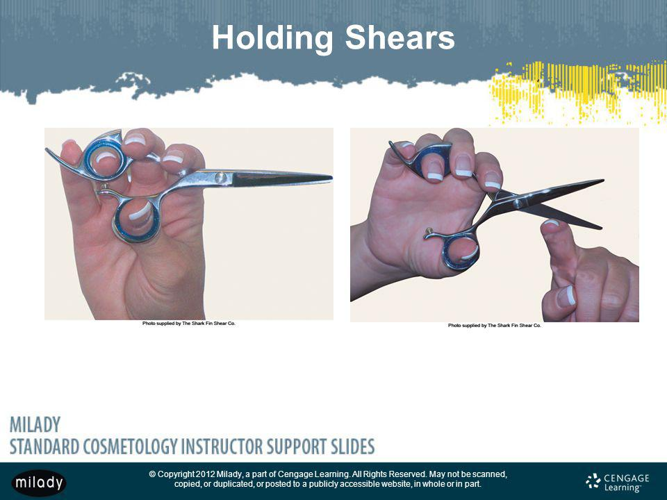 Holding Shears HOLDING YOUR TOOLS PROPERLY