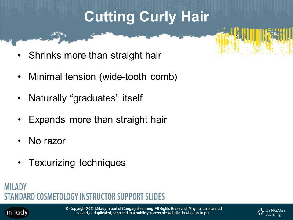 Cutting Curly Hair Shrinks more than straight hair