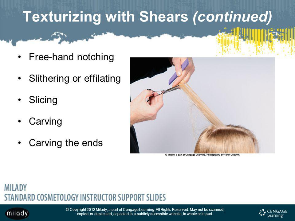 Texturizing with Shears (continued)