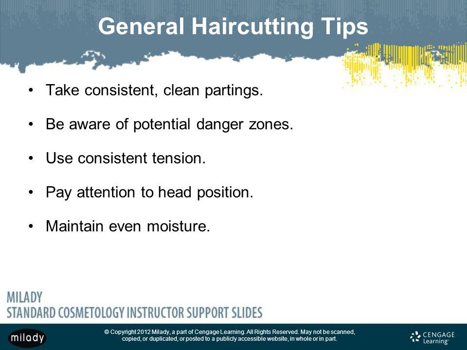 General Haircutting Tips