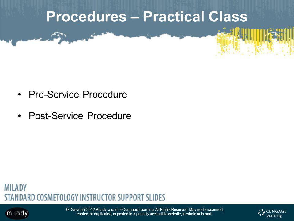 Procedures – Practical Class