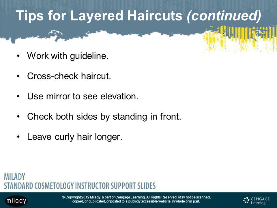 Tips for Layered Haircuts (continued)